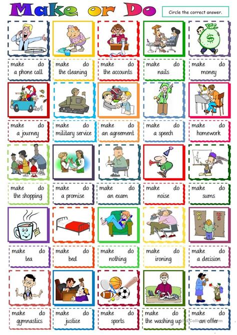 multiple choice worksheet  esl