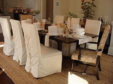 Dining Room Chair Slipcovers For On Budget Re-decoration