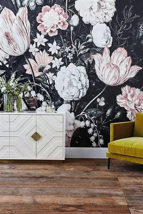 super trendy moody floral wallpaper ideas shelterness