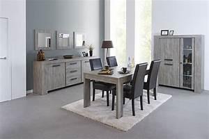 meubles de salle manger complte couleur chne gris With meuble de salle a manger avec salle a manger contemporaine complete