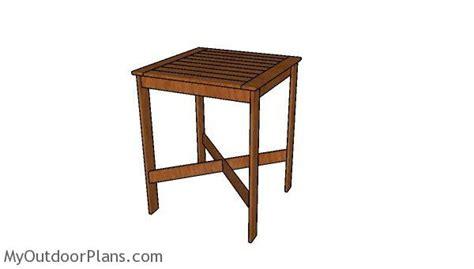 bistro table plans myoutdoorplans  woodworking