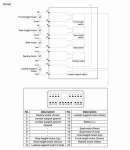 Kia Forte  Power Seat Control Switch Circuit Diagram