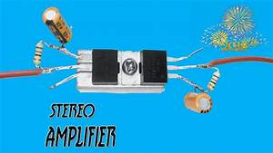 Stereo Amplifier Circuit Using Mosfet