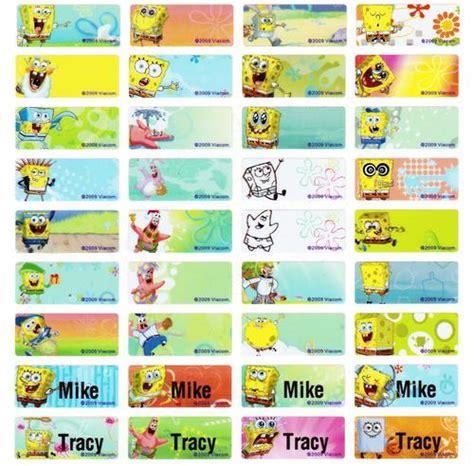 Doraemon Sticker Name Label Small stickers glitter embellishments spongebob