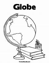 Coloring Globe Printable Pages Suitcase Colouring Earth Sheet Popular Getcoloringpages Worksheet Getcolorings sketch template