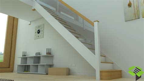 Staircase And Stairwell by White And Glass Staircase Stairbox Staircases