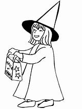 Coloring Pages Halloween Trick Treater Sheets Treat Caramel Witch Peat Polly sketch template