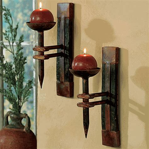 decorative wall candle holders tequila barrel wall candle holder