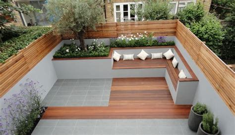 outdoor built in seating small garden home