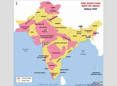 PrePartition Map of India