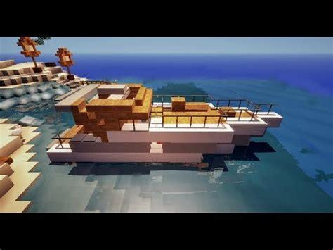minecraft tutoriel petit bateau de luxe yacht hors bord