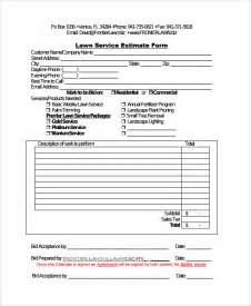 Tree Trimming Cost Estimate by Sle Service Estimate Template 7 Free Documents