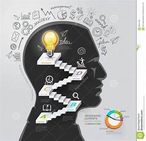 Silhouette Businessman Thinking Idea  Stock Vector