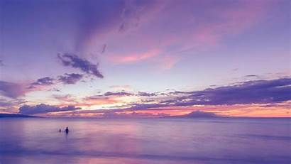 Ocean Sunset Purple Beach Pink Clouds Quotes