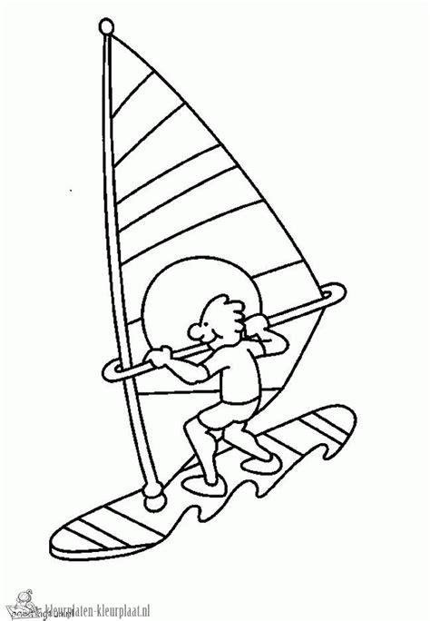 Kleurplaat Surfen by Kleurplaten Zee Kleurplaten Kleurplaat Nl