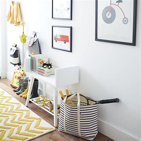Foyer Storage Ideas by Entryway Storage Ideas For Families Crate And Barrel
