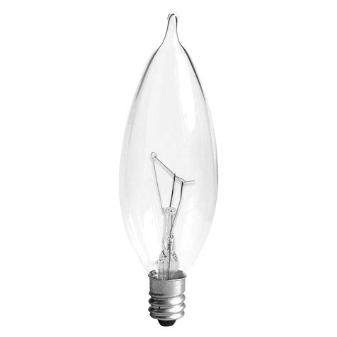 ge 25 watt incandescent ca10 bent tip candelabra base