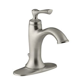 Kohler Elliston Faucet Chrome by Shop Kohler Elliston Brushed Nickel 1 Handle 4 In