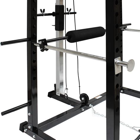squat rack with cables mirafit power rack squat cage cable lat pull up row