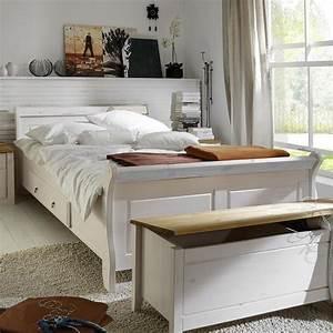 Bett 90x200 Weiß Massiv : massivholz doppelbett mit schubladen 180x200 holzbett kiefer massiv wei ~ Bigdaddyawards.com Haus und Dekorationen
