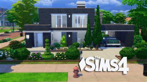 sims  modern simple design house build youtube