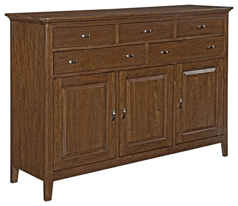 Cherry Wood Buffet Sideboard by Cherry Park Solid Wood Sideboard