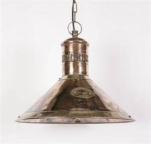 Pendant lighting bulbs : Deck solid copper and brass light pendant from richard