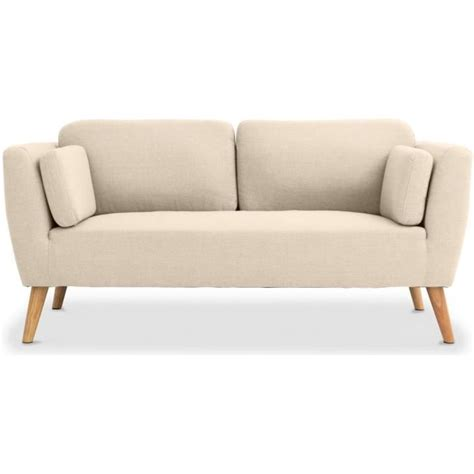 canape style scandinave canapé 2 places style scandinave pria beige achat