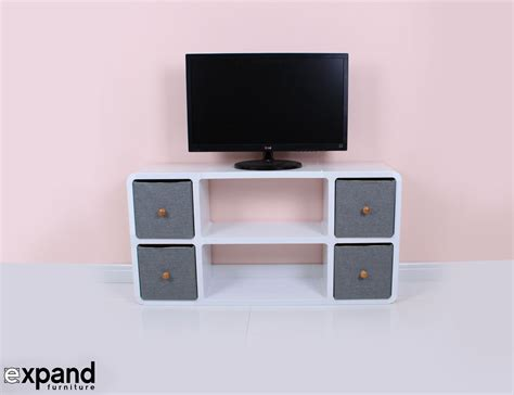 tv and storage unit slim modern tv stand expand furniture