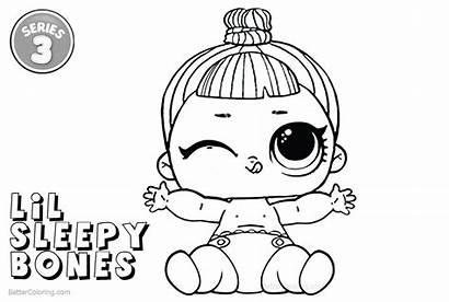 Lol Coloring Sleepy Lil Bones Printable Adults