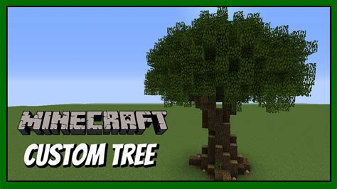 minecraft   build custom tree tutorial youtube