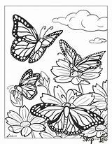 Butterfly Coloring Pages Sheet Adults Mandala Children sketch template