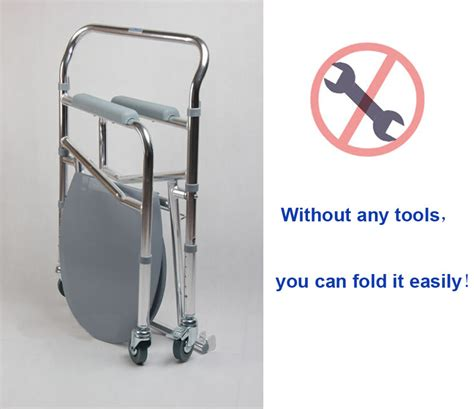 folding aluminum shower chair wheelchair commode wheels