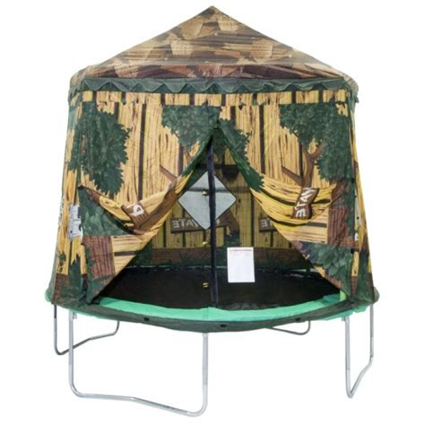 This trampoline canopy tent will fit 10ft jumppod trampoline models from 2009 to 2015 and premium jumpking trampolines. 10ft Enclosure Cover Tree House   TrampolinePartsandSupply.com