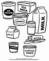 Coloring Pages Dairy Colouring Clipart Printable Sheets Milk Drawing Items Cliparts Clip Library Link Puzzles Popular Favorite sketch template