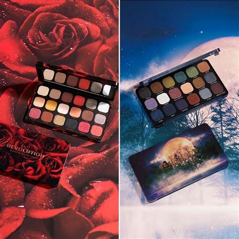 makeup revolution  flawless enchanted midnight rose eyeshadow palettes