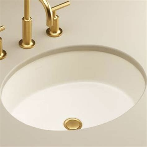 Kohler Verticyl Undermount Sink by K2881 96 Verticyl Undermount Style Bathroom Sink Biscuit