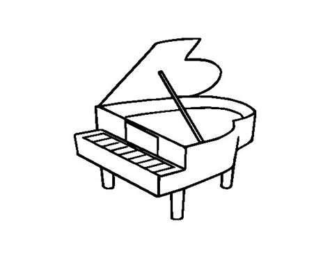 piano coloring pages grand piano opened coloring page coloringcrew