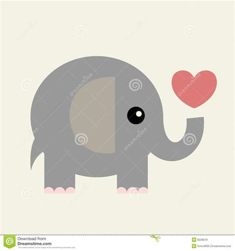 vector valentine cardelephant stock vector