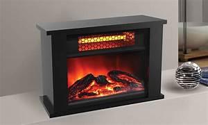 Lifesmart Lifezone Infrared Quartz 14 U0026quot  Mini Fireplace