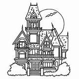 Coloring Haunted Pages Mansion Printable Halloween Ghost Colouring Houses Castle Drawing Momjunction Stories Adult 230px 4kb Printables Night sketch template