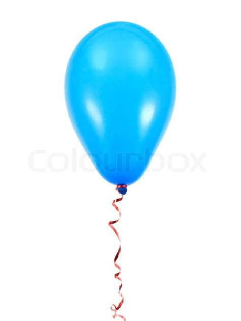 blue balloons isolated   white background stock