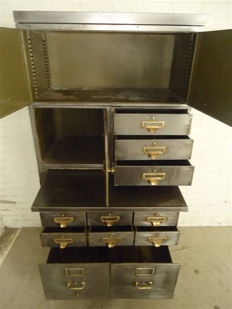 Shaw Walker File Cabinet Locking Mechanism by Stack Metal File System By Quot Y And E Quot At 1stdibs