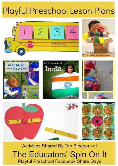 preschool learning activities weekly lesson plan 593 | 0bb703b3420818ef9ba068e835a33fc9