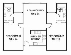 Elegant House Plans 2 Bedrooms 2 Bathrooms New Home