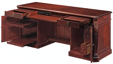executive desk and credenza balmoor 66 quot executive desk with shaped top