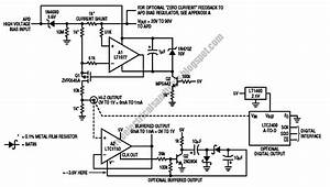 Free Schematic Diagram  Dc Coupled Current Monitor Circuit