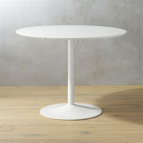 trade show round tables odyssey white dining table cb2