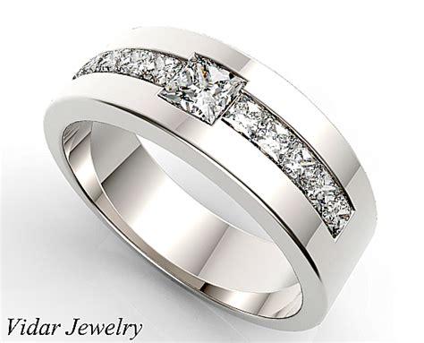 princess cut black ring unique princess cut wedding band for 39 s vidar
