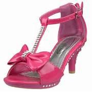 Bow Open Toe High Heel...